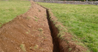 Micro Hydro Groundworks underway…